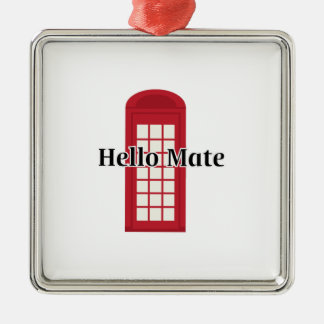 Compañero de Phonebooth_Hello Adorno Cuadrado Plateado