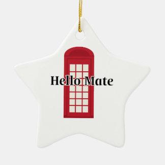 Compañero de Phonebooth_Hello Adorno De Cerámica En Forma De Estrella