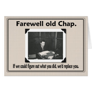 Compañero de trabajo del adiós adiós tarjeton