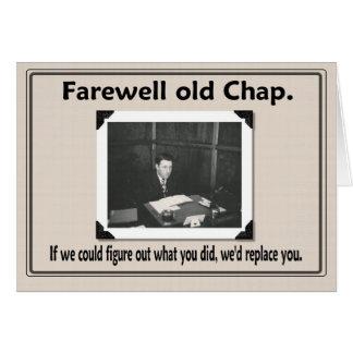 Compañero de trabajo del adiós adiós tarjeta de felicitación