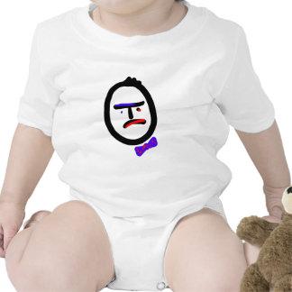 Compañero de trabajo infeliz con el bowtie camisetas