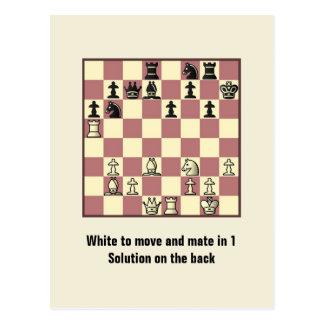 Compañero del ajedrez en 1 postal del rompecabezas