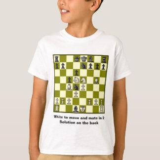 Compañero del ajedrez en 2 el rompecabezas #2 playera