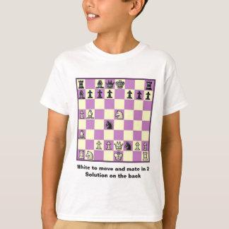 Compañero del ajedrez en 2 el rompecabezas #3 playeras
