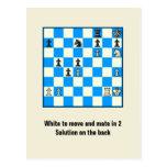 Compañero del ajedrez en 2 postal del rompecabezas