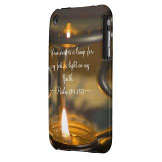 Compañero del caso del 119:105 del salmo iPhone 3 cárcasas