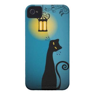 Compañero del caso del iPhone 4/4S del gato negro Funda Para iPhone 4