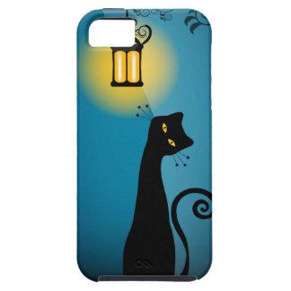 Compañero del caso del iPhone 5 del gato negro Funda Para iPhone SE/5/5s