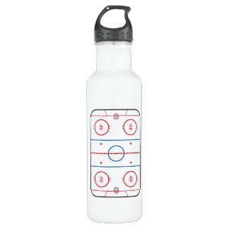 Compañero del juego de hockey del diagrama de la botella de agua de acero inoxidable