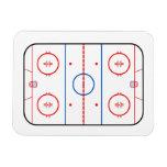 Compañero del juego de hockey del diagrama de la imán foto rectangular
