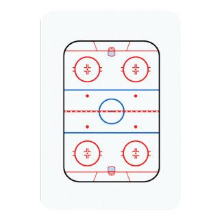 """Compañero del juego de hockey del diagrama de la invitación 3.5"""" x 5"""""""