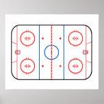 Compañero del juego de hockey del diagrama de la póster