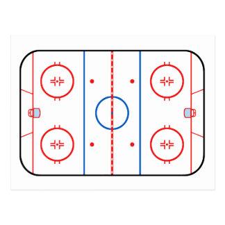 Compañero del juego de hockey del diagrama de la postal