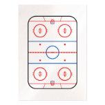 Compañero del juego de hockey del diagrama de la tarjetas de visita grandes