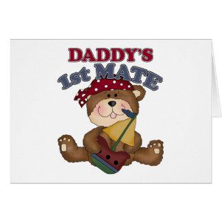 Compañero del pirata del papá 1r tarjeta de felicitación