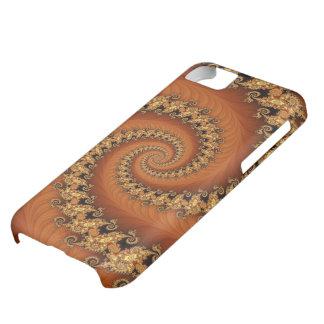 Compañero espiral doble anaranjado del caso del fr funda para iPhone 5C