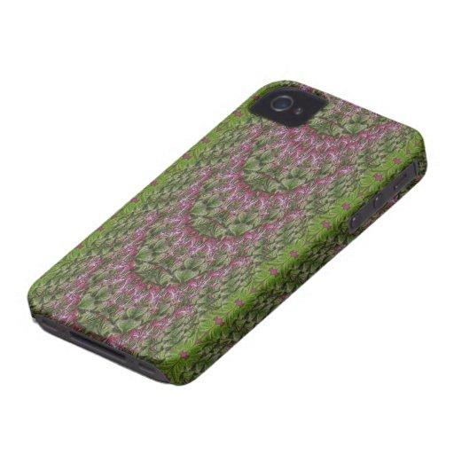 Compañero floral del caso del extracto iPhone4 de  iPhone 4 Cobertura
