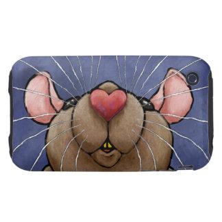Compañero lindo del caso de la rata del corazón iPhone 3 tough fundas
