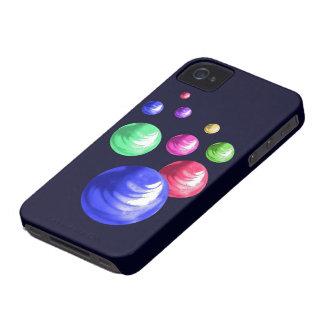 Compañero multicolor de la caja de los mármoles iP iPhone 4 Cárcasas