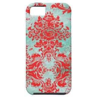 Compañero rojo de la caja del damasco de la turque iPhone 5 Case-Mate carcasas