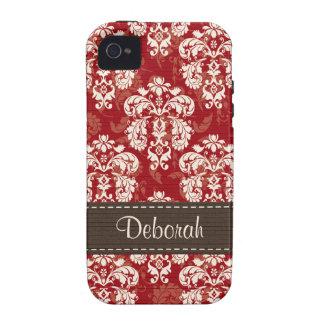 Compañero rojo marrón del caso del iPhone 4 del da Vibe iPhone 4 Funda