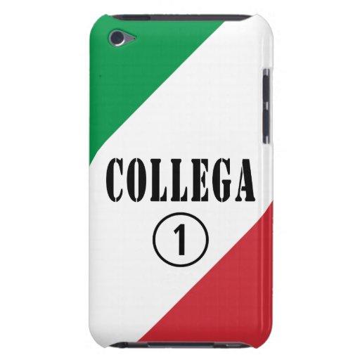 Compañeros de trabajo italianos: Uno de Collega Barely There iPod Carcasa