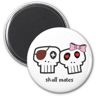 Compañeros del cráneo imán redondo 5 cm