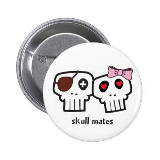 Compañeros del cráneo pin redondo 5 cm