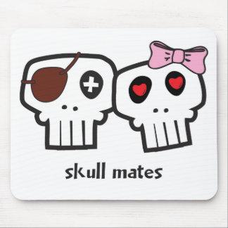 Compañeros del cráneo alfombrillas de raton