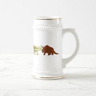 Compañeros del dinosaurio jarra de cerveza