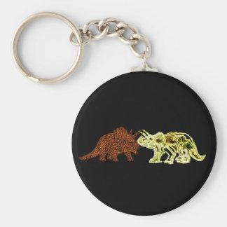 Compañeros del dinosaurio llavero personalizado