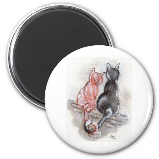 Compañeros del gato imán redondo 5 cm