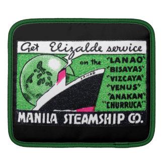 Compañía 1930 de buque de vapor de Manila Fundas Para iPads