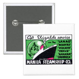 Compañía 1930 de buque de vapor de Manila Pin