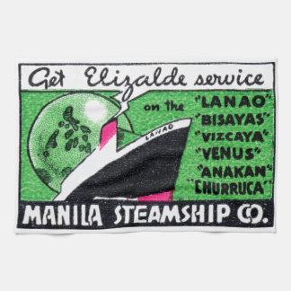 Compañía 1930 de buque de vapor de Manila Toallas