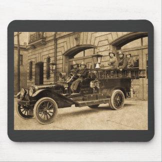 Compañía de bomberos del vintage de no. 34 del mot mouse pad