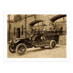 Compañía de bomberos del vintage de no. 34 del mot tarjeta postal