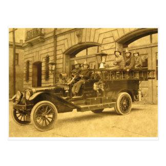Compañía de bomberos del vintage de no. 34 del tarjeta postal