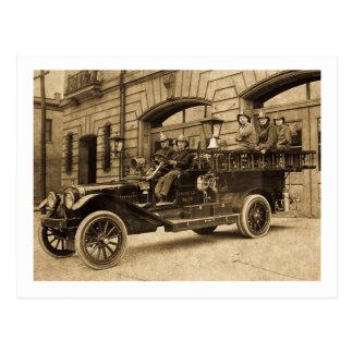 Compañía de bomberos del vintage de no. 34 del tarjetas postales