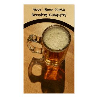 Compañía de elaboración de la cerveza, barra, tarjetas de visita