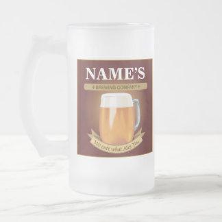 Compañía de elaboración de la cerveza taza de cristal