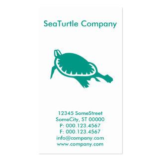 compañía de encargo de la tortuga tarjetas de visita