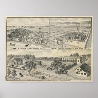 Compañía de la madera de construcción del arbolado posters