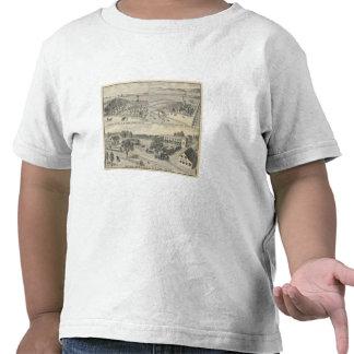 Compañía de la madera de construcción del arbolado camisetas