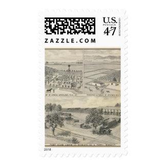 Compañía de la madera de construcción del arbolado sello postal