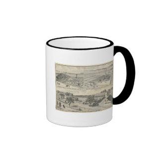 Compañía de la madera de construcción del arbolado tazas de café