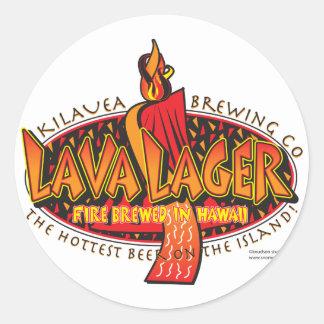 Compañía de Lava-CERVEZA-Elaboración de la cerveza Pegatina Redonda