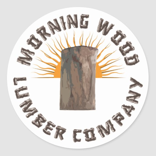 Compañía de madera de la madera de construcción de pegatina redonda