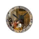 Compañía que hace música de Pieter de Hooch Relojes De Pared