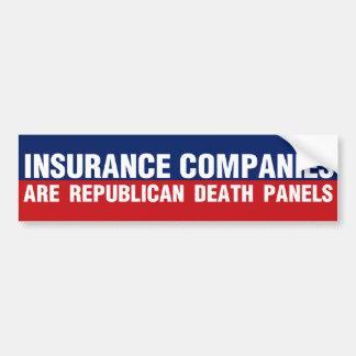 Compañías de seguros pegatina para auto